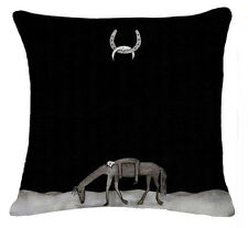 HORSE & WESTERN GIFTS HOME DECOR HORSE CUSHION COVER 18 inch 45cms BLACK