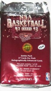 1992/93 Upper Deck NBA Basketball High Series JUMBO 27 Cards - New from the Box