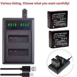 DMW-BLG10 Battery or LED Dual Charger for Panasonic DMC-GX80 DMC-GX85 DMC-ZS60