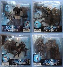 SET of 4 McFarlane Toys ALIENS vs PREDATOR Playsets Action Figures AVP NEW 2005!