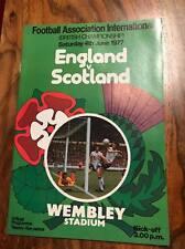 ENGLAND V SCOTLAND 1977 WEMBLEY GOALPOSTS PROGRAMME TARTAN ARMY PITCH INVASION
