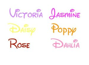 OFFER!!Personalised Sticker Name Word Label Water Drink Bottle Disney Font Decal