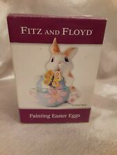Fitz & Floyd Essentials Easter Bunny - Painting Easter Eggs Lidded Dish with Box