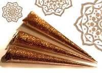 3 x  GOLD GLITTER GEL, LRG PROFESSIONAL QUALITY, Henna Gilding and Body Art Jx3