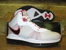 Nike Lebron James 8 V/2 SZ 10 White Black Sport Red Miami Heat Elite 429676-100