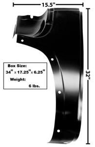 1947-54 Chevrolet Pickup Cowl Outer Lower Panel w/o Louvers - LH New