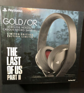 Sony GOLD Wireless Stereo Headset [ Last of Us Part 2 Limited Edition ] NEW