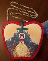 Disney D23 Expo Snow White Designer Purse Danielle Nicole Handbag Gold Chain Str