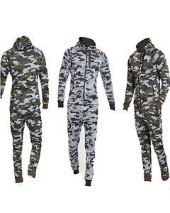 Mens Camouflage Full Zip Tracksuit Top & Slim Fit Jog Track Pants M L XL XXL
