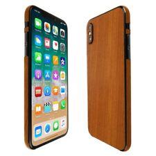Skinomi Holz Licht Hülle + Displayschutzfolie Durchsichtig für Apple Iphone X