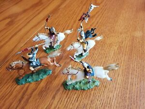Elastolin 40MM Mounted Huns Toy Soldiers
