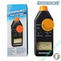 Silverline Medidor de nivel de sonido 50 – 126dB 633937 con ajustable ve 6339737