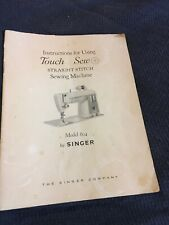 New listing Original Singer Touch Sew 604 Sewing Machine Instruction Book Free Shipping