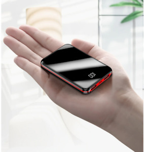 ROCK Mini 10000mAh Power Bank LCD Display Portable Charger Powerbank External