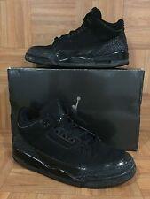 RARE🔥 Nike Air Jordan 3 III Retro Black Cat Dark Charcoal Sz 13 136064-002 SICK
