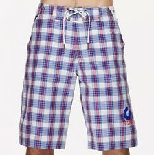 "G-Star XS Mens RB Blue Check Board Shorts BNWT 28"" Swim Swimming Trunks Boys s"