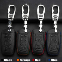 For BMW 3  Buttons Remote Smart Key Fob Case Holder Cover High Quality Leather