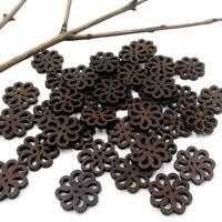 40pcs/lot PRO Flower Cute Wooden Buttons Sewing Craft 20MM NEW Button E9M2