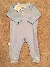 KOOSHIES Baby Boy One Piece Footie PJs Blue Newborn 0-3 Months 100% Cotton