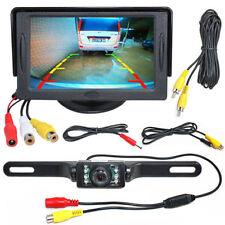 "Wireless 7 LED Reversing Camera Car Rear View Kit + 4.3"" LCD Mirror Monitor AU"