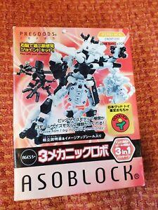 NEW Asoblock creation 3-in-1 toy Robot 25mb Pregoods Japan