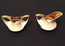 Vtg Pearl China Co Porcelain Lusterware Sugar Bowl & Creamer Gold Trim Swirl