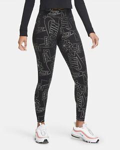 Nike Women's Sportswear Icon Clash High-Waisted AOP Leggings Black CU6861-010 e