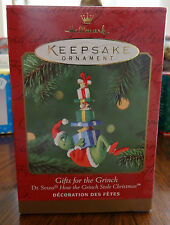 Hallmark Keepsake Ornament Gifts for the Grinch Mint in Box Dr. Seuss