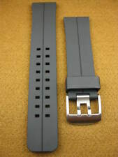 NEW 24mm HQ Black Soft PU Rubber Diver Strap Watch Band Pam 1950 24 mm M