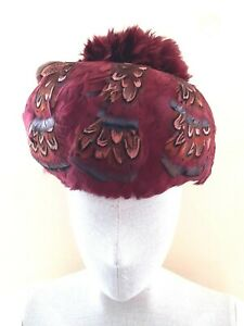 Real Feather Hat Vintage