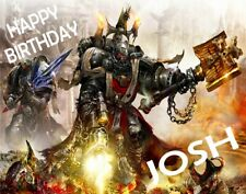 Personalised WARHAMMER Birthday Cake Topper A4 Icing Sheet ANY NAME AGE OCCASION