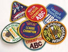 Vintage Lot Six Bowling Award Patches 1970s League Patches