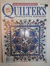 QUILTER'S NEWSLETTER MAGAZINE March 1998 300th Issue