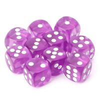 10 pcs Six Sided 15mm Game Dice Cube Round Corner Portable Table Playing Games