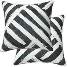 Cotton Blend Striped Contemporary Decorative Cushions & Pillows