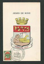 ALGERIE MK 1957 BONE WAPPEN BLAZON SCHIFFE SHIP E-LOK MAXIMUM CARD MC CM d4196