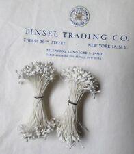 2 bu Vintage/Antique White Stamens 220+ Double Head Stems Millinery UNUSED