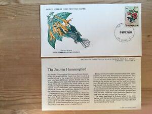 GRENADA 1978 FDC WWF 079 BIRDS JACOBIN HUMMINGBIRD