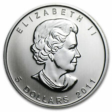 CANADA $5 Dollars 2011 (MAPLE LEAF) SILVER 1oz coin (.9999) NEW IN CAPSULE