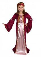 GIRLS RENAISSANCE MEDIEVAL TUDOR PRINCESS LADY FANCY DRESS COSTUME