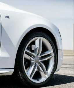 """18"""" Audi A4 A5 A6 A7 S-Line Style Wheels in Silver Rims Size 18x8 inch PCD 5x112"""