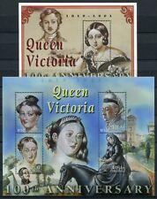 MALEDIVEN MALDIVE 2001 Königin Victoria Queen 3791-3794 + Block 495 ** MNH