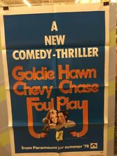"""CHASE,CHEVY """"Foul Play"""" Original  Movie Poster 1978"""