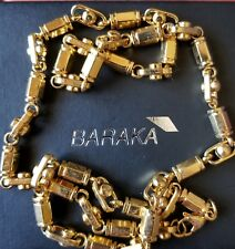 "85.6g, Baraka, Sauro style, 24"" amazing high end gold tone mens chain"