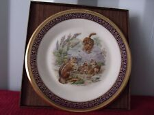 Lenox Boehm Woodland Wildlife 1976 Chipmunk Gold Trim Plate & Boxes Coa Ex.Cond.