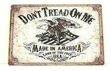 New Gadsen American Flag Tin Poster Sign Don't Tread on Me Man Cave Gun Shop 2