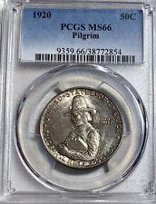 1920 Pilgrim 50C Commemorative Silver Half Dollar PCGS MS 66