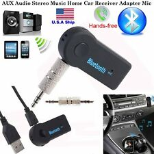 Wireless  Mini Bluetooth 3.5mm AUX Audio Stereo Music Car Receiver Adapter Mic