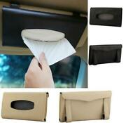 Autoaccessories Holder Paper Napkin Clip PU Leather Car Sun Visor Tissue Box LJ