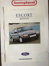 Ford Escort Bonus Special Edition Sales Brochure, Supplied by Gaming Squad
